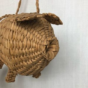 Bags - Vintage Wicker Pig Bag - Similar to Cult Gaia 5bd92c6ccedf1